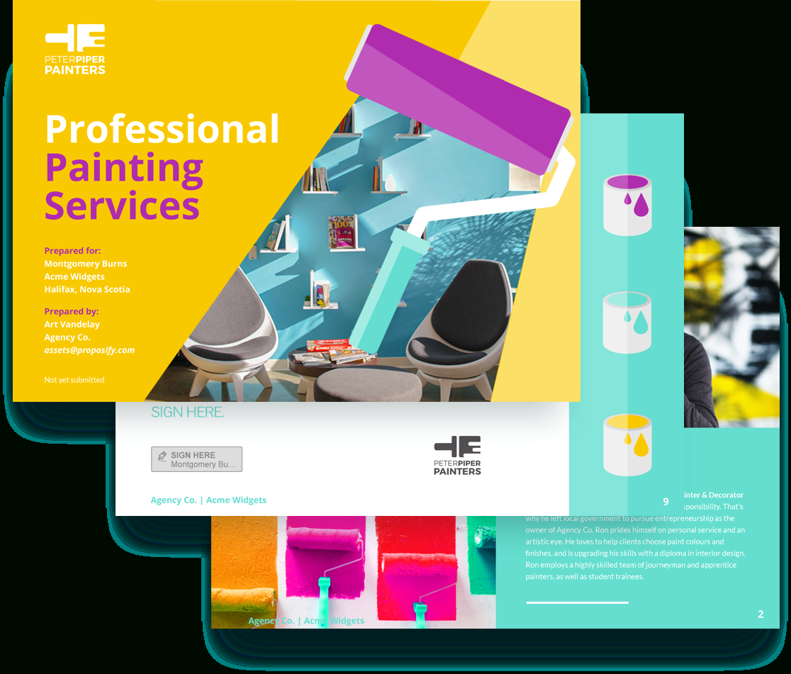 Painting Services Proposal Template | Proposify for Paint Proposal Template Word Doc