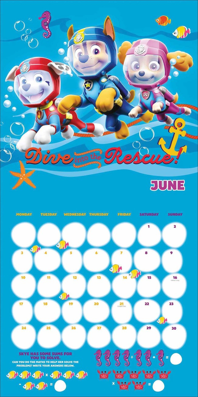 Paw Patrol - Calendars 2020 On Ukposters/abposters regarding Free Calendar For 2020 Peclia.com