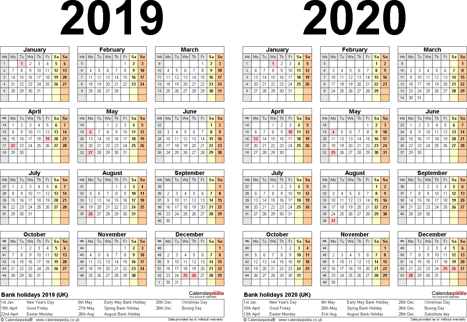 Perky 2 Year Pocket Calendar 2019 And 2020 • Printable Blank pertaining to Pocket Printable 2019-2020 Calendar Free