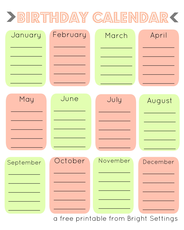 Perpetual Calendar Frame | Blank Calendars Printable pertaining to Frame Birthday Calendar Templates Free