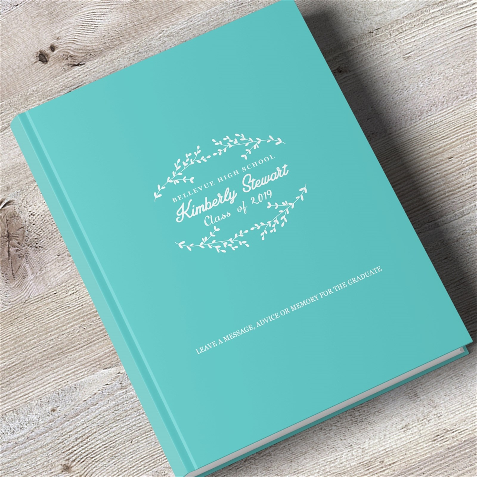 Personalized Graduation Guest Book | 8 X 10 Hardcover + Blank Pages intended for Blank Graduation Advice Sheets