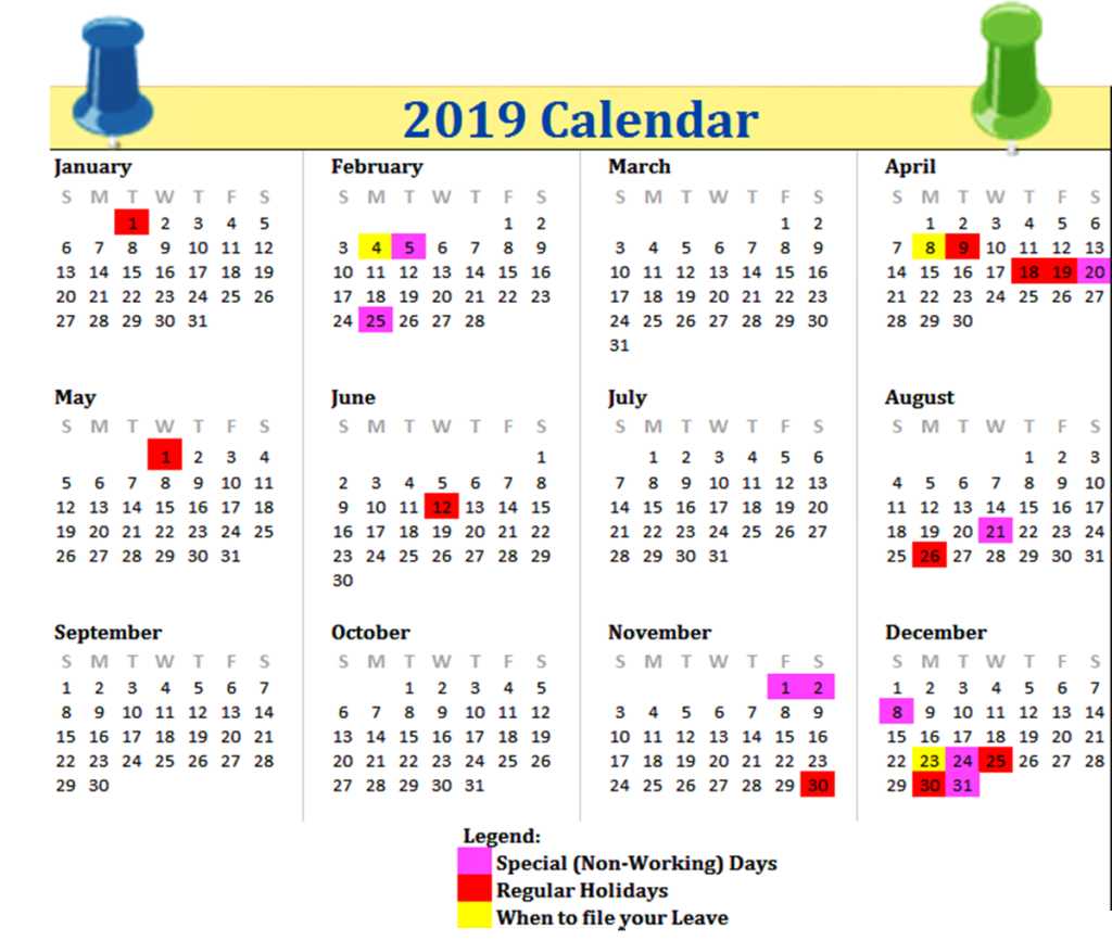 Philippines 2019 Printable Calendar | 2019 Calendars | June 2019 for Printable Template For Philippine Calendar