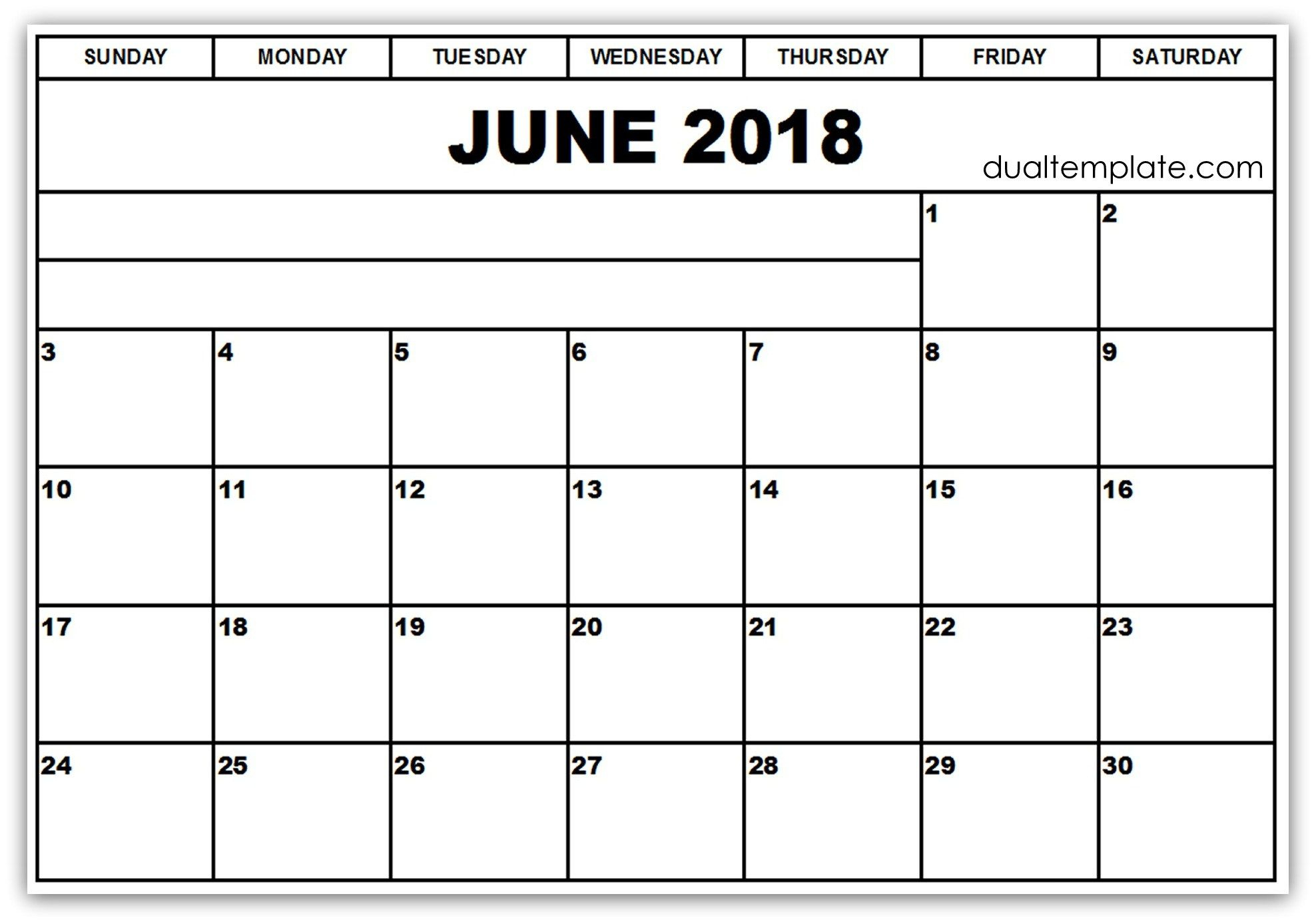 Pinakhil Sharma On June 2018 Calendar Printable Template | Blank regarding Printable Blank Calendar June