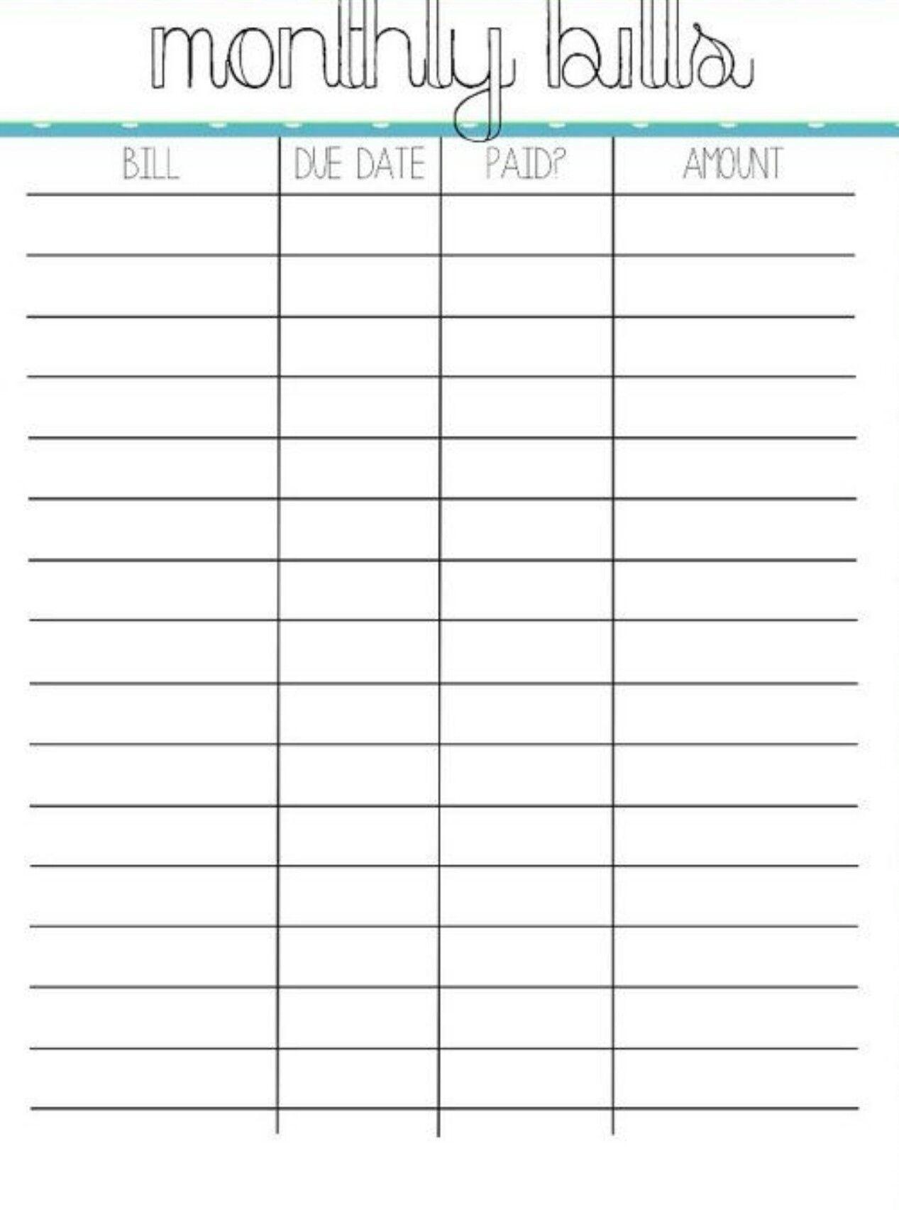 Pincrystal On Bills | Bill Organization, Organizing Monthly inside Monthly Bill Calendar Template Printable