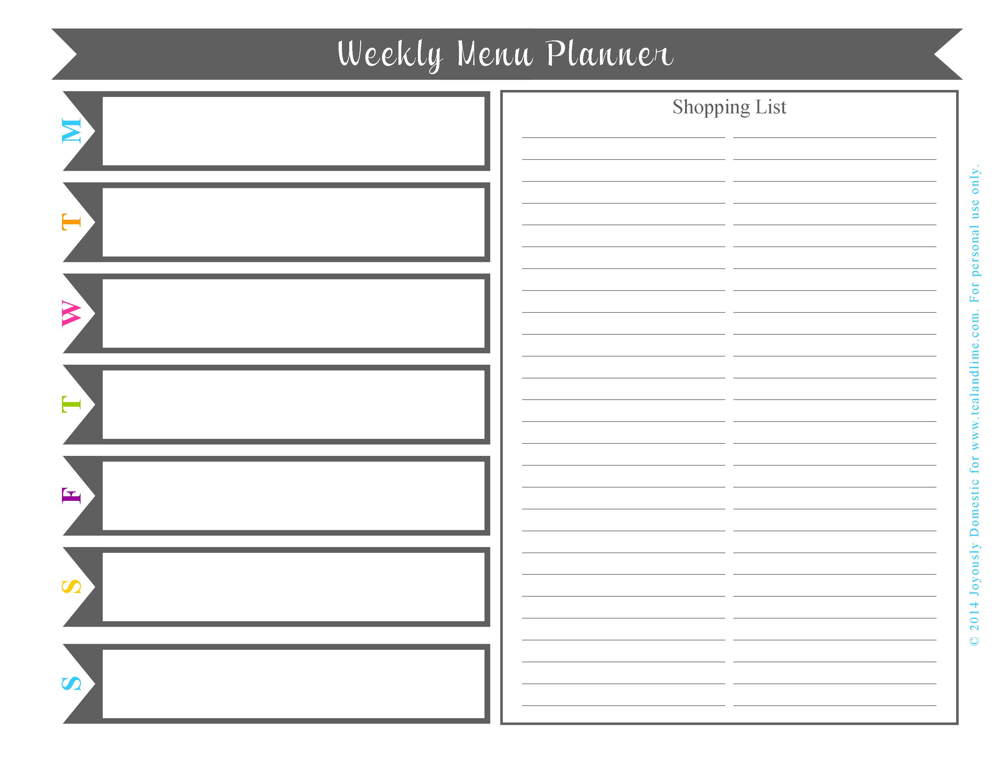 Plan Your Weekly Dinner Menu In Under 30 Minutes (Free Printable) in Monthly Printable Blank Menus To Print