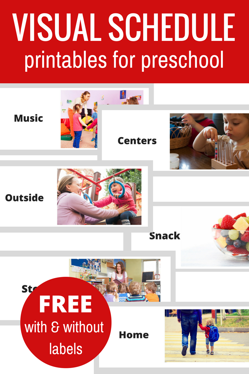 Preschool Lesson Planning Template - Free Printables | Classroom Set in Free Preschool Template For Schedule