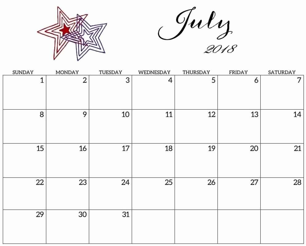 Pretty Printable Calendar July 2019 | Calendar Format Example inside Pretty Monthly Calendar Template July