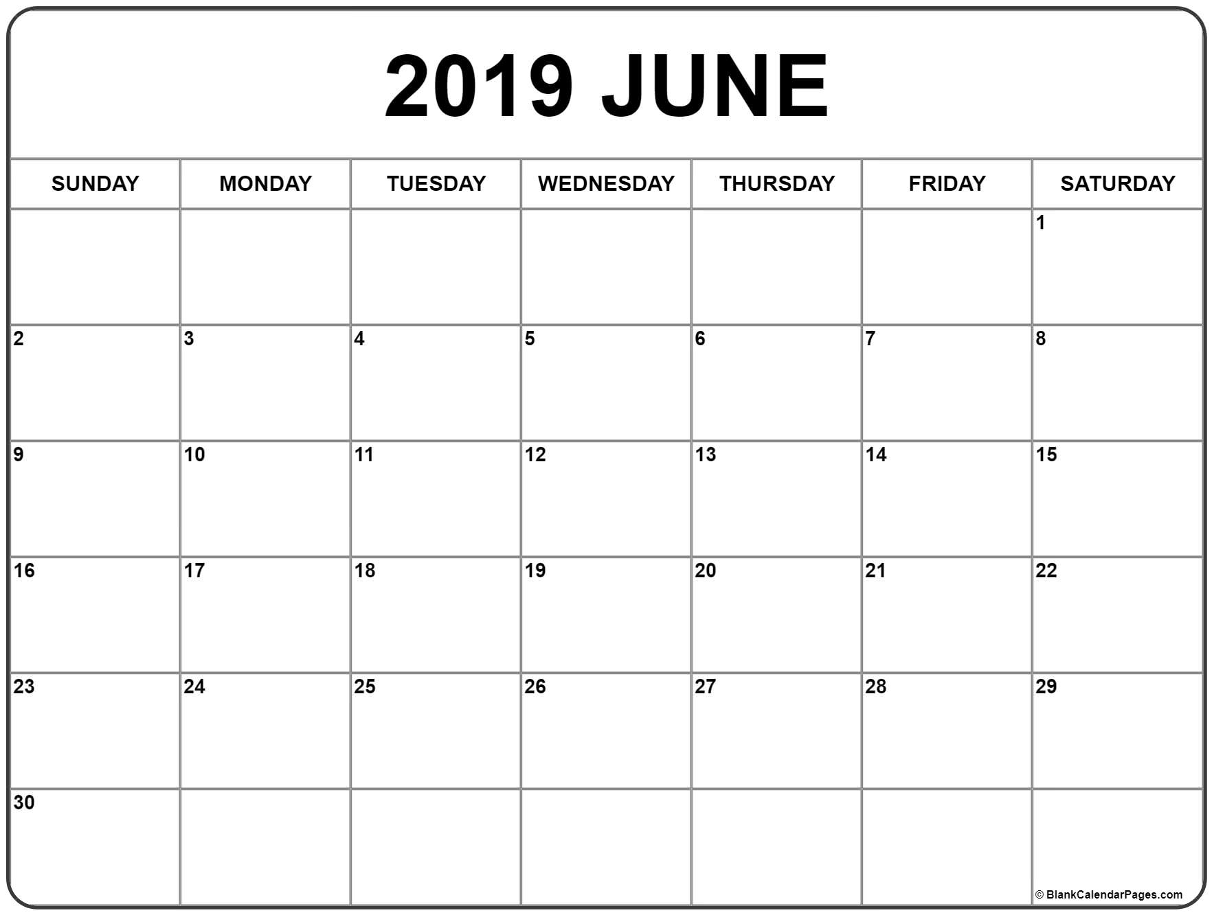 Prime June 2019 Month Blank Calander Monday Thru Friday Only in Blank Calendar Template Monday To Friday Only