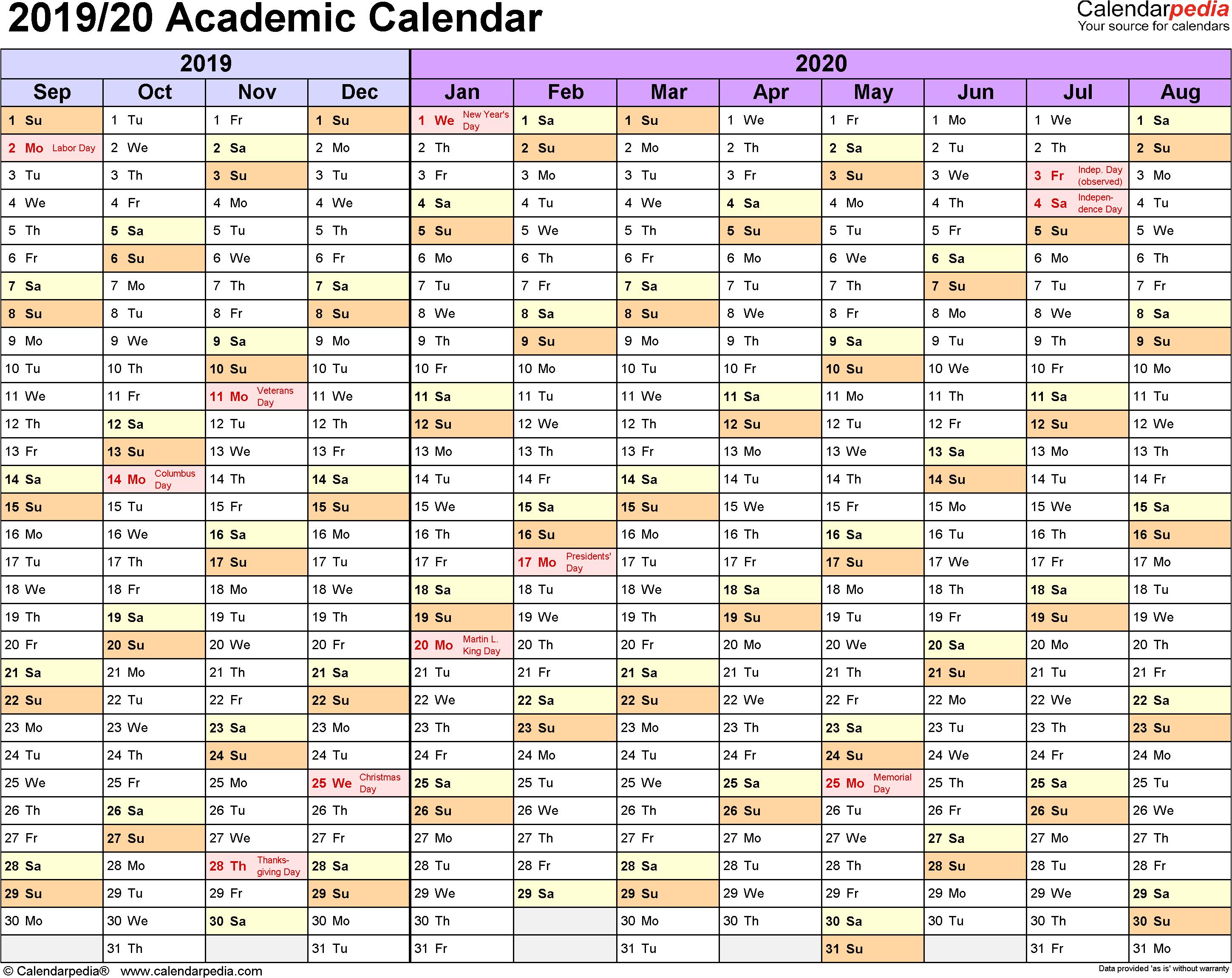 Print 59 Examples School Year Calendar 2019 2020 Template within Google Calendar Printable 2019 2020