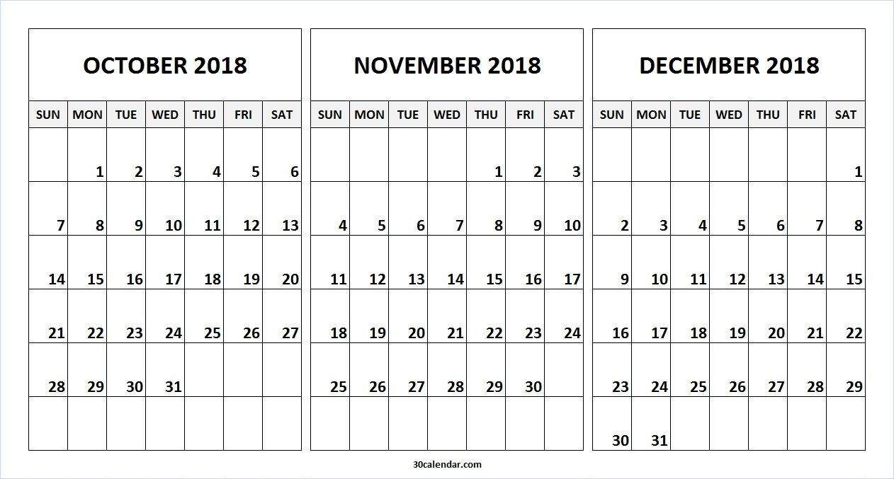 Print Calendar For October November December | Calendar Printing Example regarding Calendar Template With 194 Days