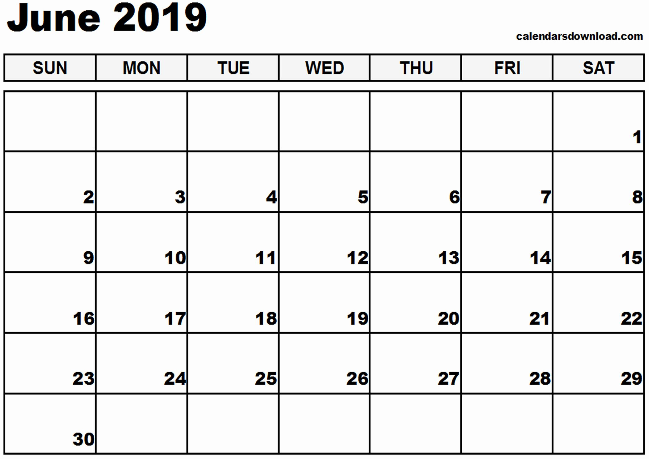 Print June 2019 Calendar Blank | June 2019 Printable Calendar | June within Blank September October November Calendar Yahoo