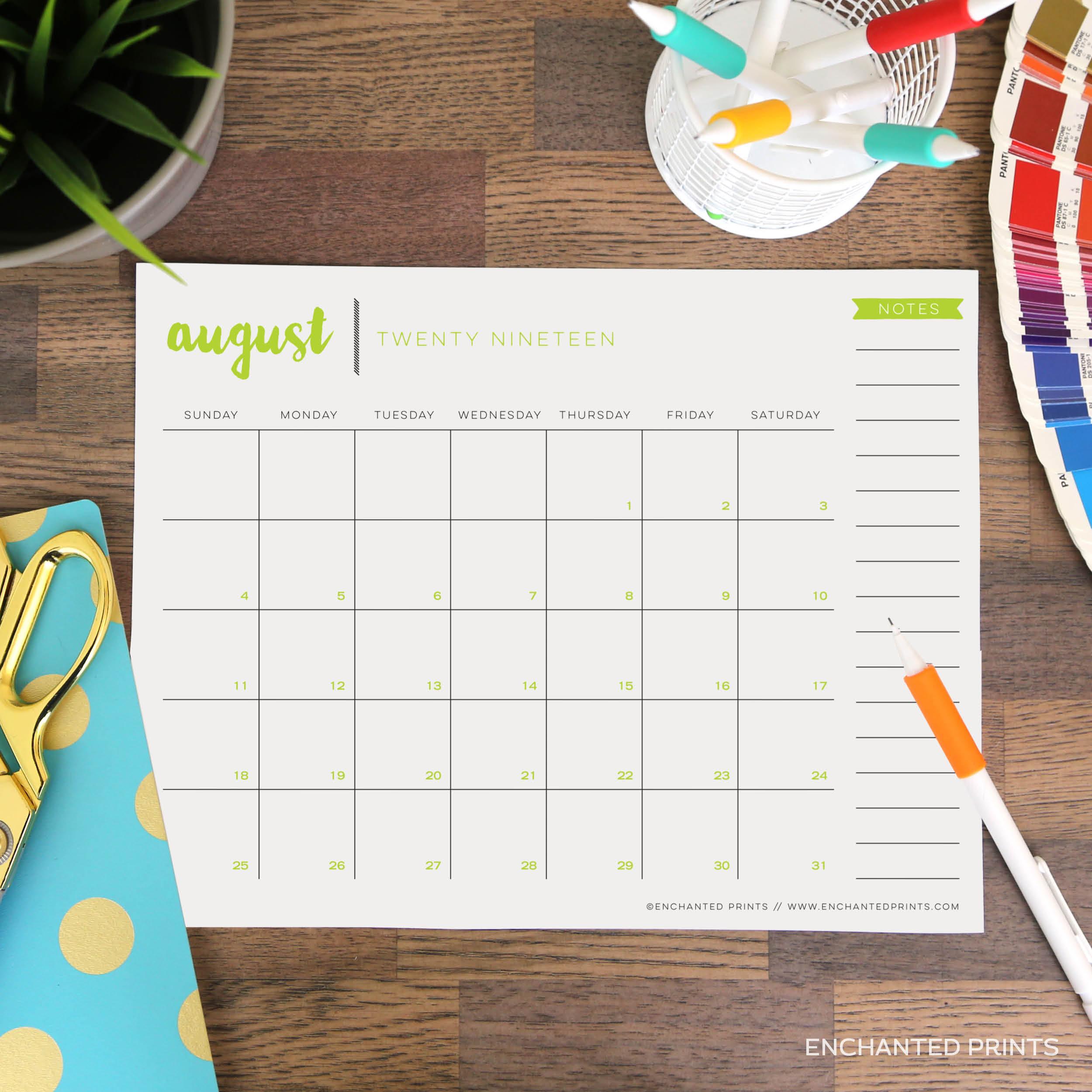 Printable 2019-2020 Academic Calendar - 16 Month Calendar - 2019-2020  Planner - 8.5 X 11 Organization And Planning - Instant Download regarding 2020 Calendar 8.5 X 11