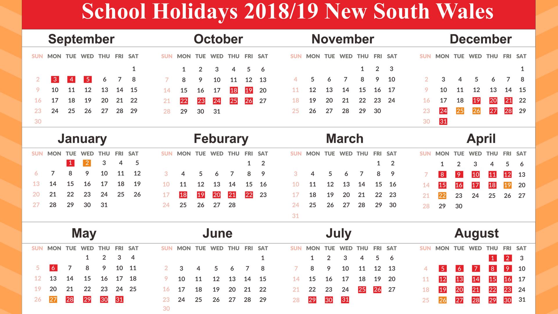 Printable 2019 Calendar Nsw | Printable Calendar 2019 in Calendar October 2019 Nsw Printable
