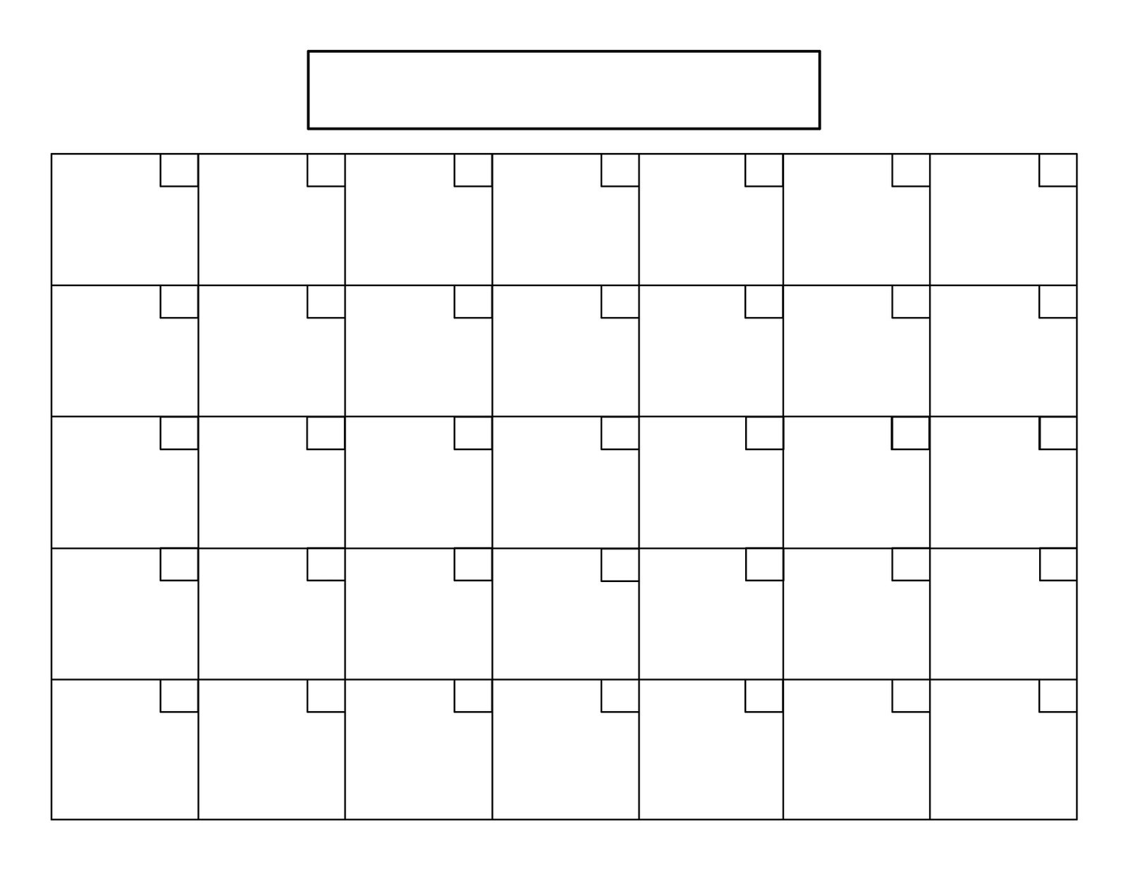 Printable 5 Day Monthly Calendar • Printable Blank Calendar Template within 5 Day Blank Calendar Template