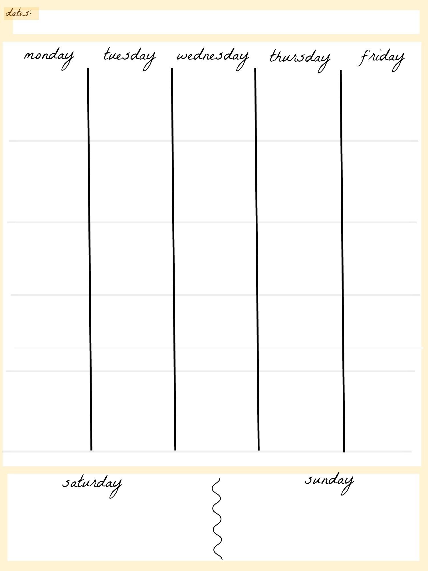 Printable 5 Week Calendar | Printable Calendar 2019 inside Blank Calendar Printable 5 Day