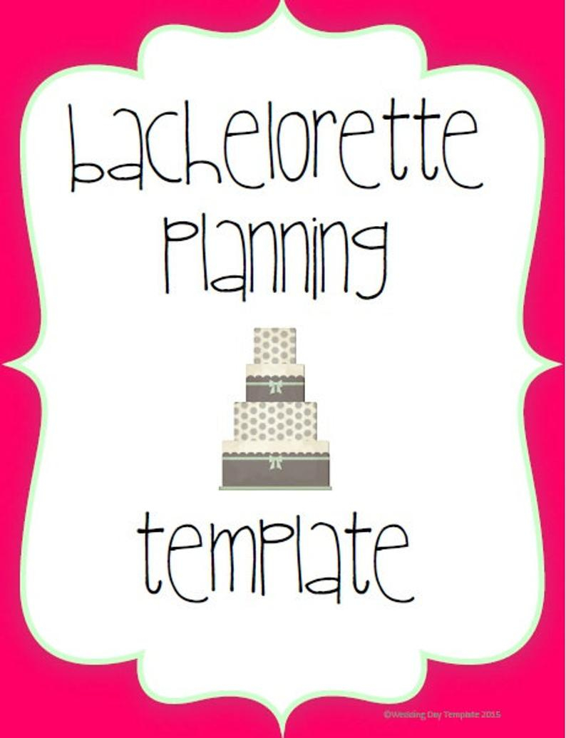 Printable - Bachelorette Planning Template regarding Bachelorett Fill In Blank Templets