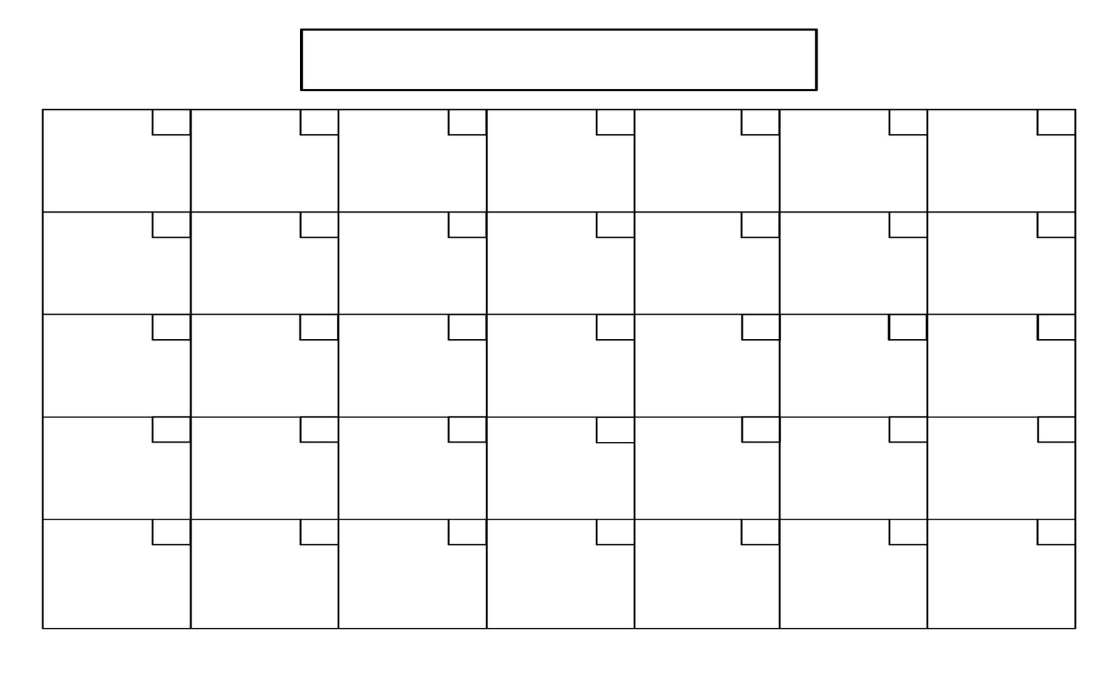 Printable Blank 31 Day Calendar | Template Calendar Printable in Printable Blank 31 Day Calendar