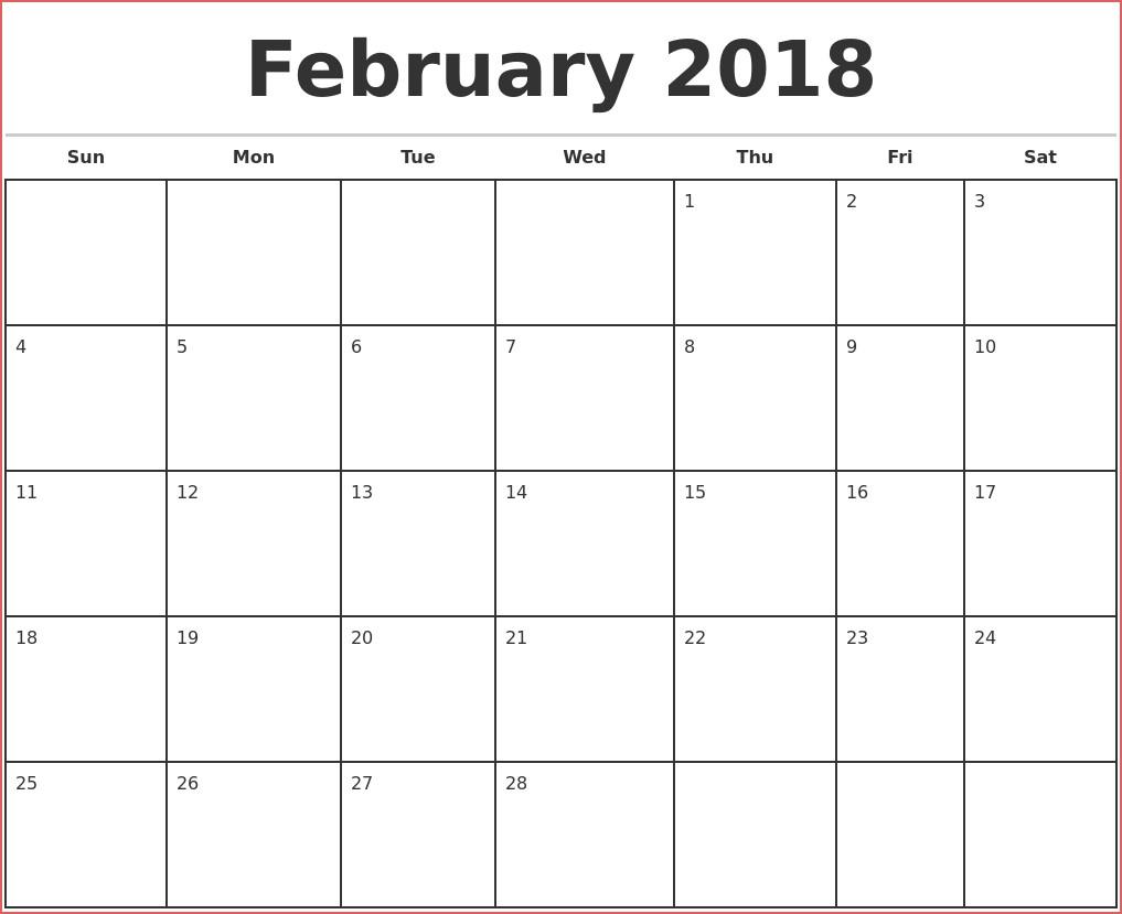 Printable Blank Calendar Template Monthly Word Pdf Printable 5 Day with 5 Day Calendar Template