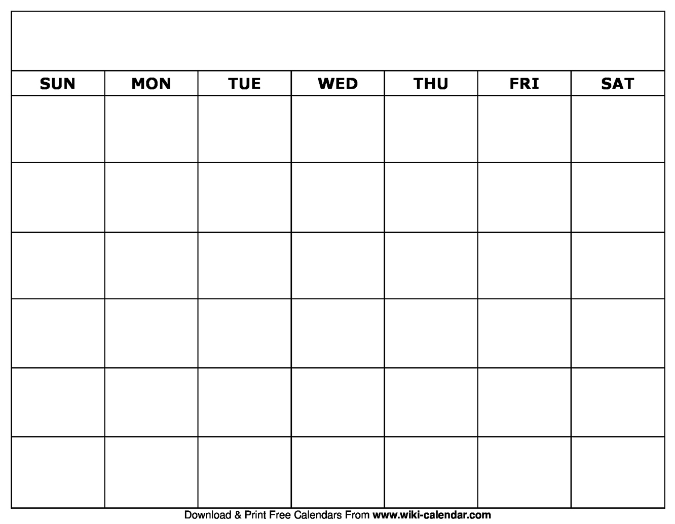 Printable Blank Calendar Templates with regard to Blank Monthly Calendar Template