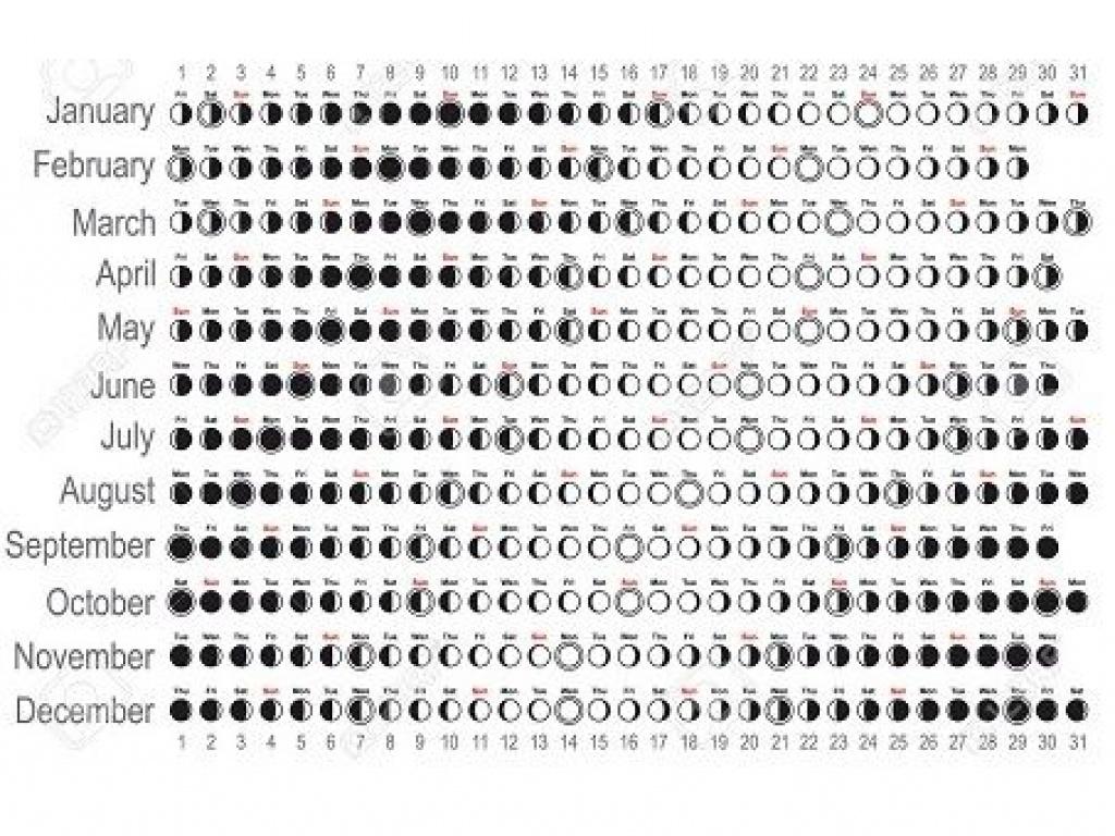 Printable Calendar 2018 Moon Phases | Printable Calendar 2019 for Full Moon Calendar 2019 Printable October