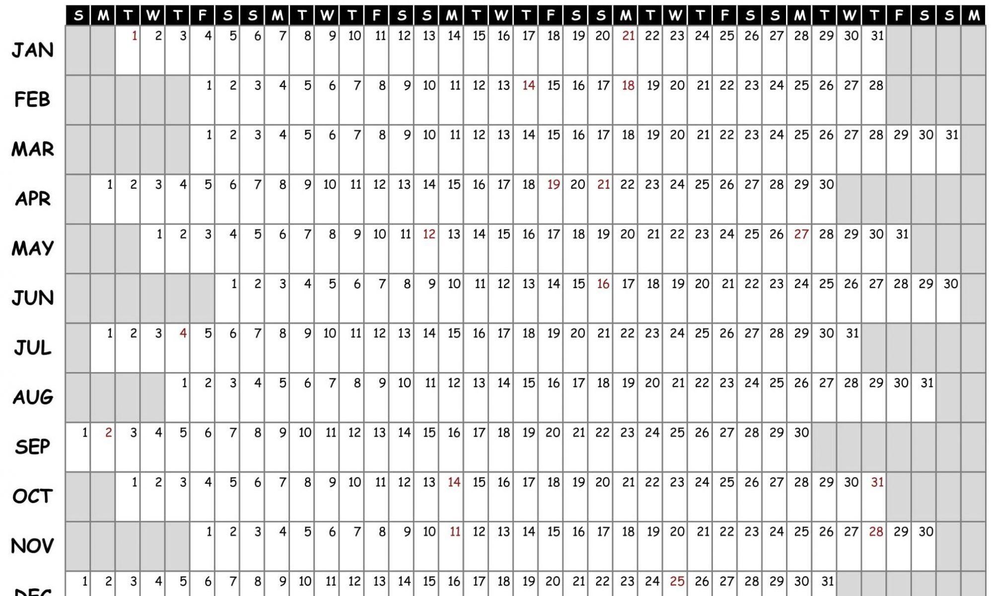 Printable Calendar 2019 Excel | Free Printable 2019 Calendar pertaining to A3 Calendar Template Printable