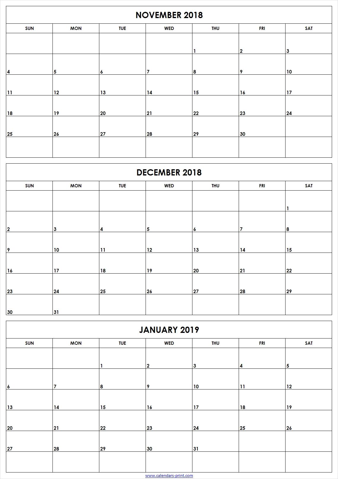 Printable Calendar 3 Month 2019 • Printable Blank Calendar Template within Blank 3 Month Printable Monthly Calendar