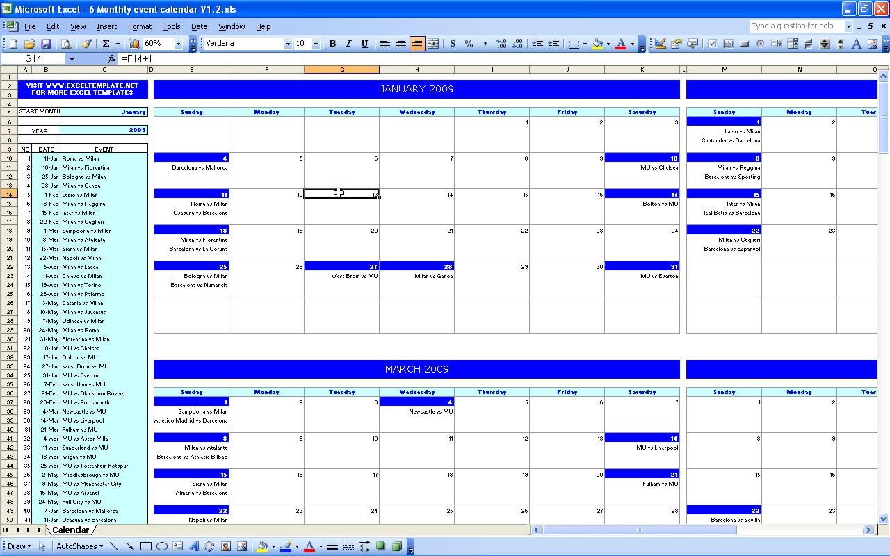 Printable Calendar Events | Printable Calendar 2019 within Event Calendar Templates Excel Printable