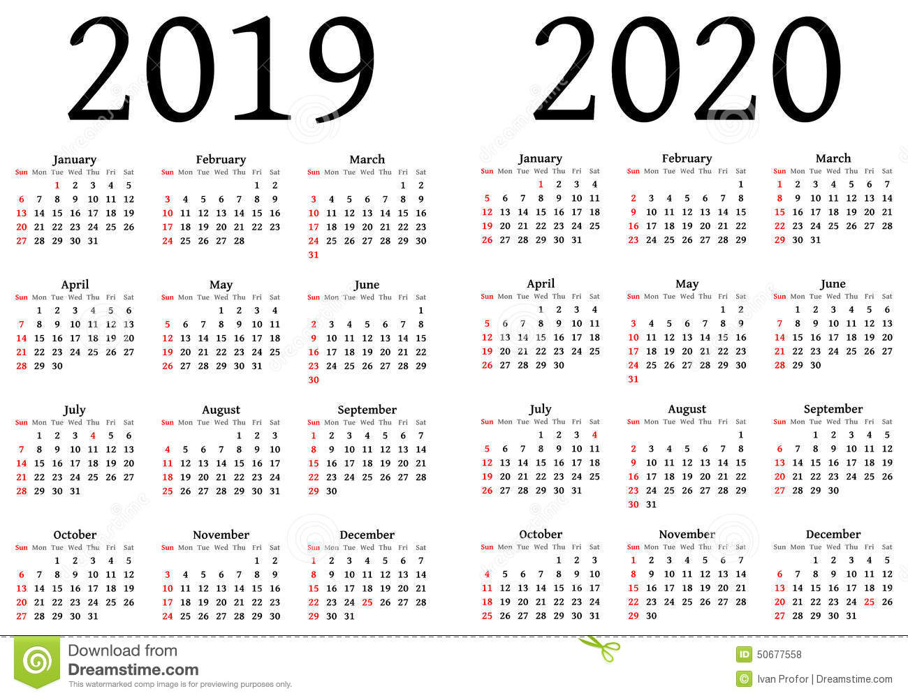 Printable Calendar For 2019 And 2020 | Printable Calendar 2019 pertaining to 2020 Printable Calendar With Large Squares