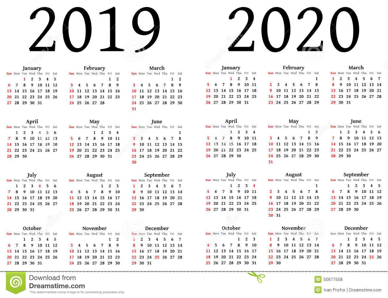 Printable Calendar For 2019 And 2020 | Printable Calendar 2019 throughout 2019-2020 Blank Calendar To Print