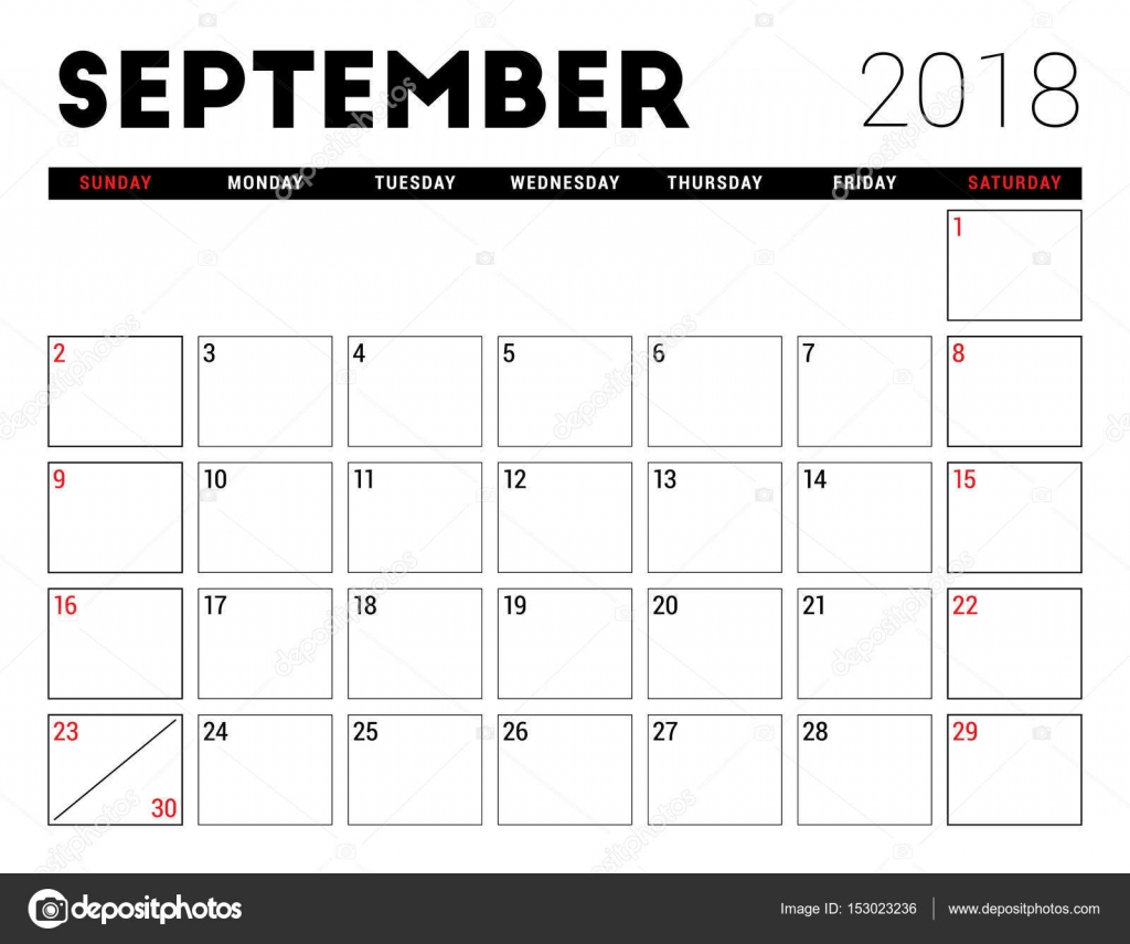 Printable Calendar For September 2018. Planner Design Template. Week pertaining to Monday Sunday Calendar Template September
