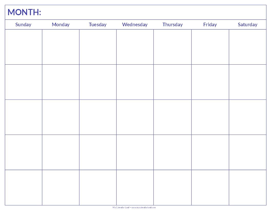 Printable Calendar - Image #20 in 6 Week Printable Blank Calendar