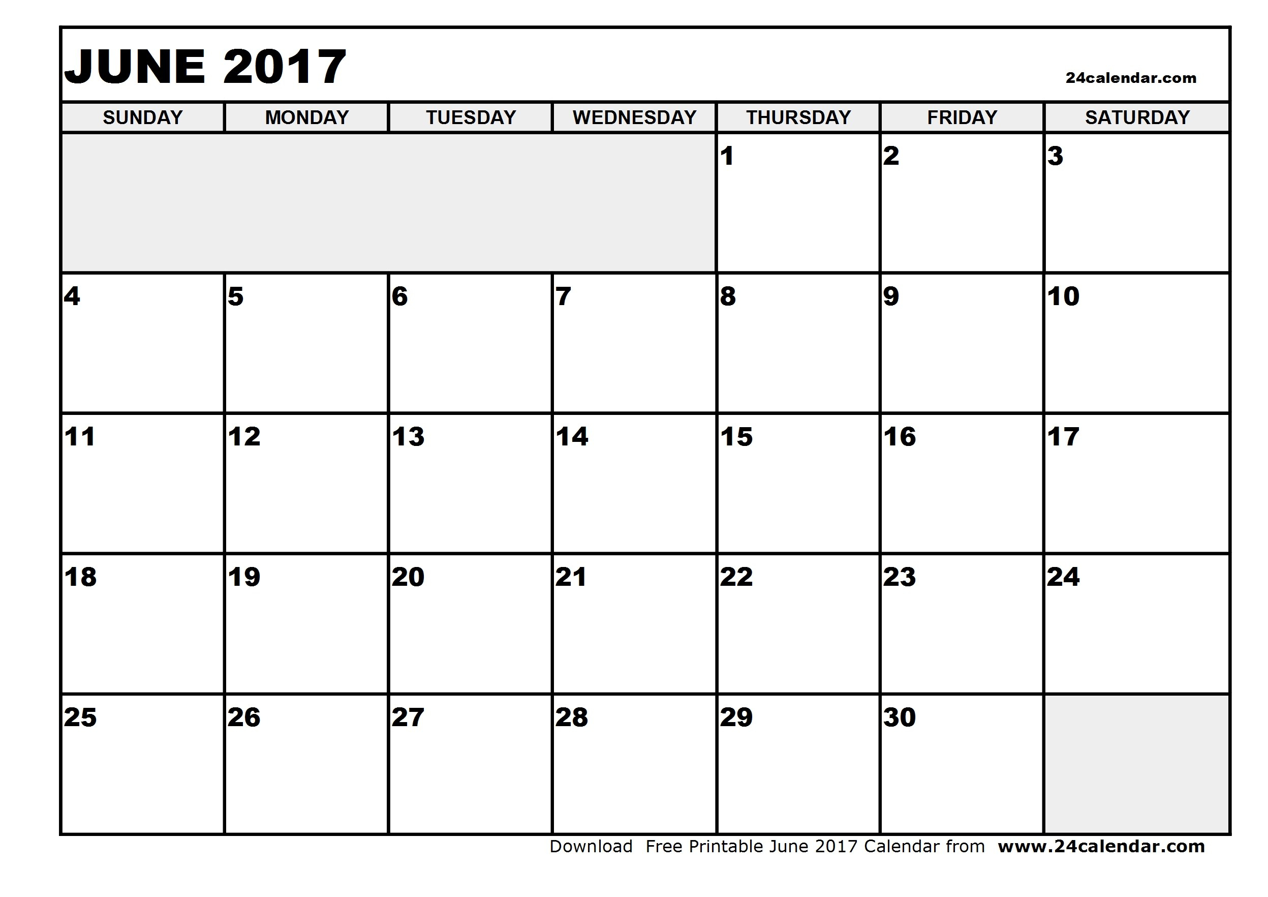 Printable Calendar June July 2017 – Ezzy within Blank June And July Calendar