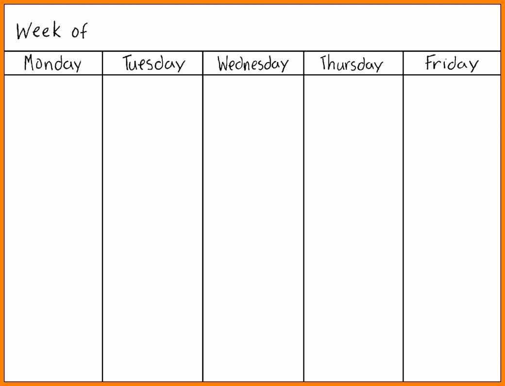 Printable Calendar Monday Through Sunday | Printable Calendar 2019 pertaining to Monday Through Friday Blank Schedule Print Out