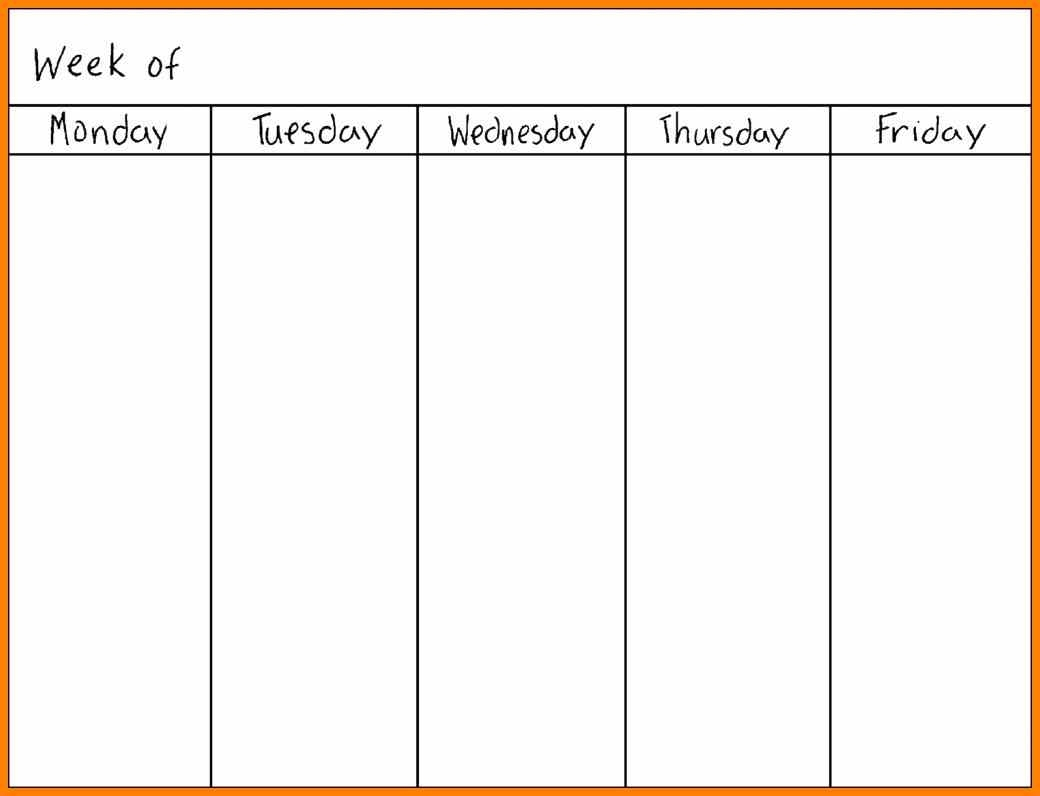 Printable Calendar Monday Through Sunday | Printable Calendar 2019 within Monday Through Friday Blank Calendar Printable