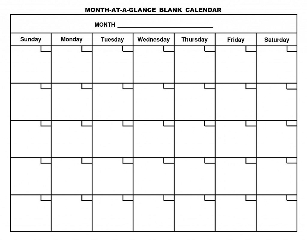 Printable Calendar Pages Monthly   Activity Shelter for Printable Calendar By Month Blank