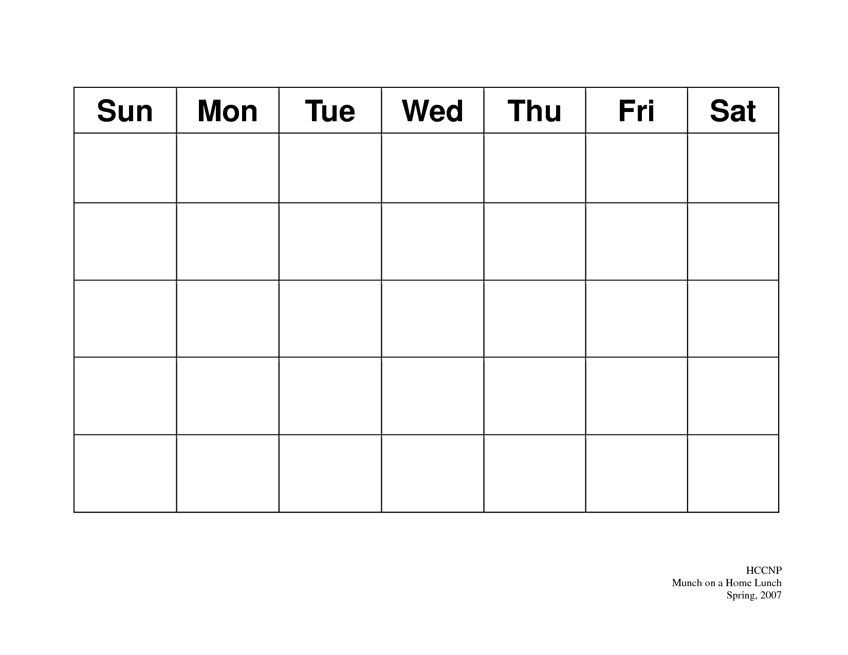 Printable-Calendar-Template-Calendar-Page-Template with Blank Printable Calendar Pages