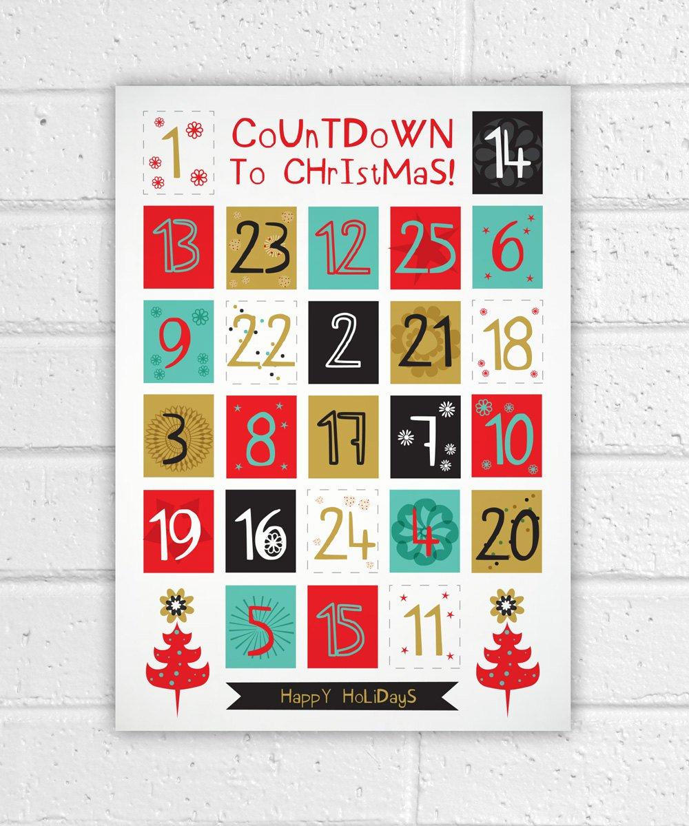 Printable Countdown Calendar Template And Printable Advent Calendar in Christmas Calendar Printable Template