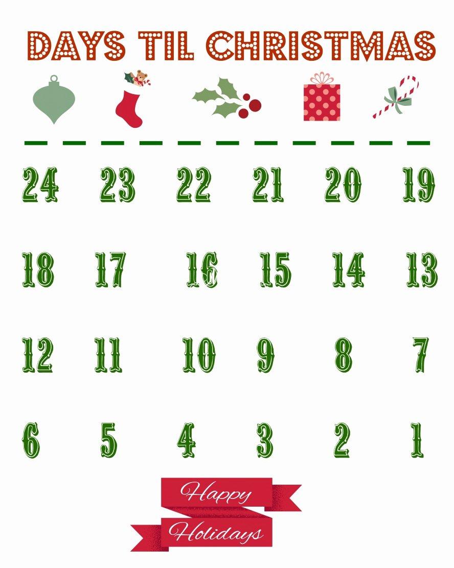 Printable Countdown Calendar Template | Mathosproject with regard to Christmas Calendar Printable Template