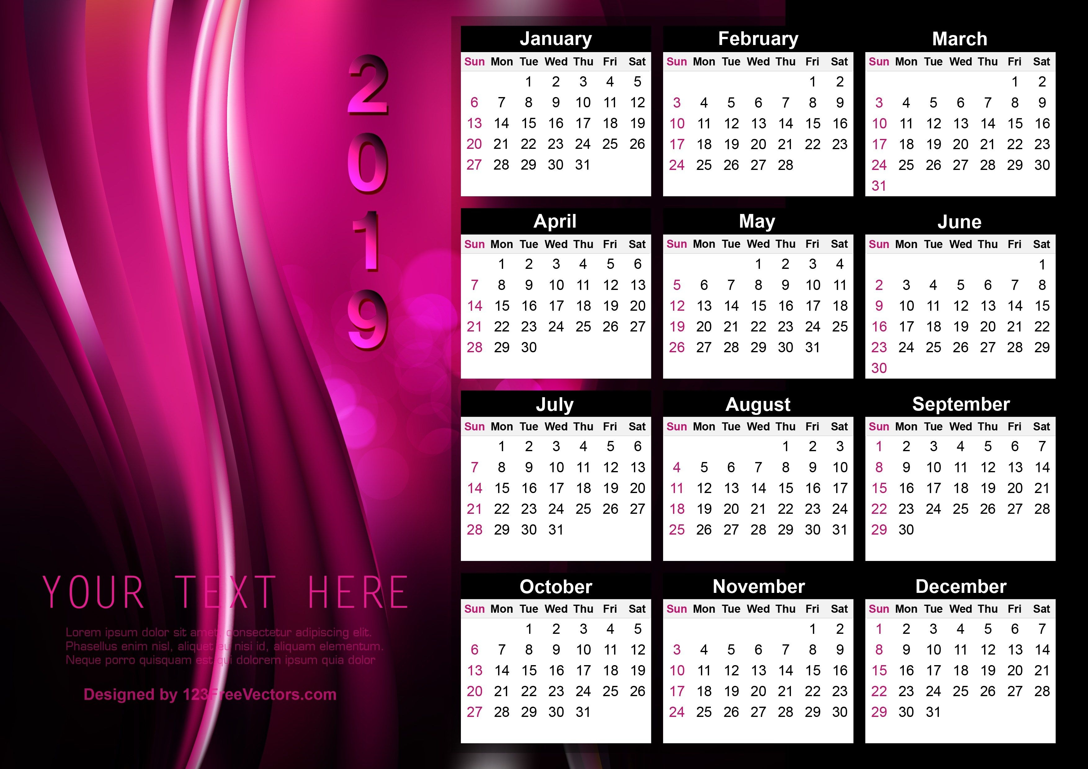 Printable Free August 2019 Calendar Template With Clown | Calendar for Printable Free August Calendar Template With Clown