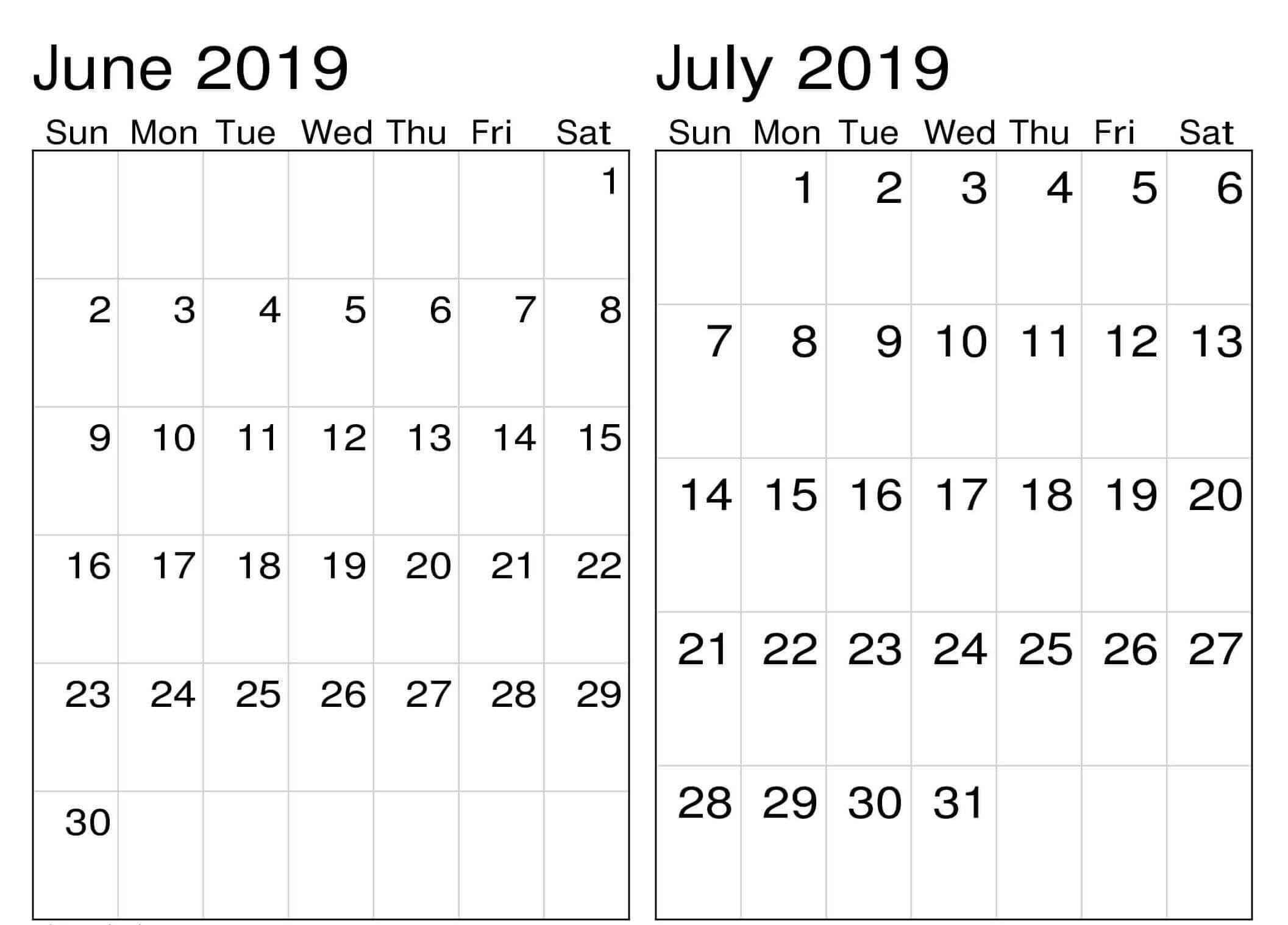 Printable July 2019 Employee Template   Calendar Format Example regarding Printable July Employee Template