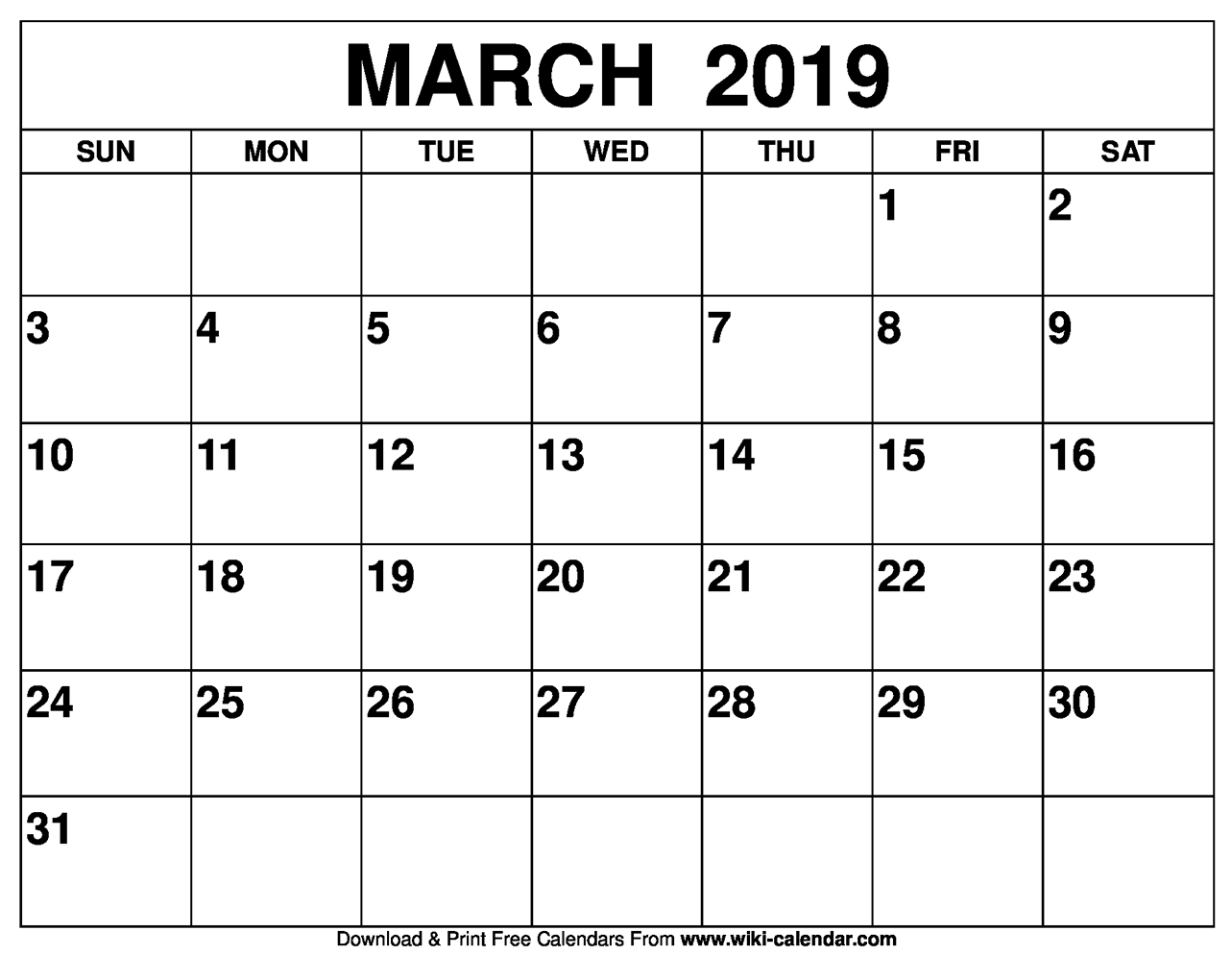 Printable March 2019 Calendar - Free Printable Calendar Templates in Pretty Calendar Template Printable March
