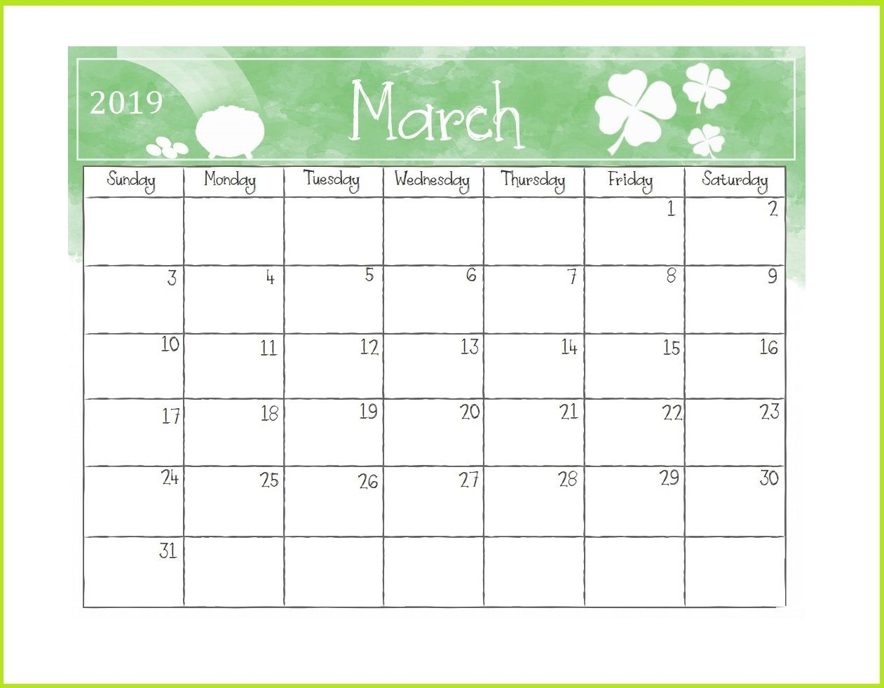 Printable March 2019 Desk Calendar Template Planner Free Download intended for Free Downloadable Cute Calendar Template