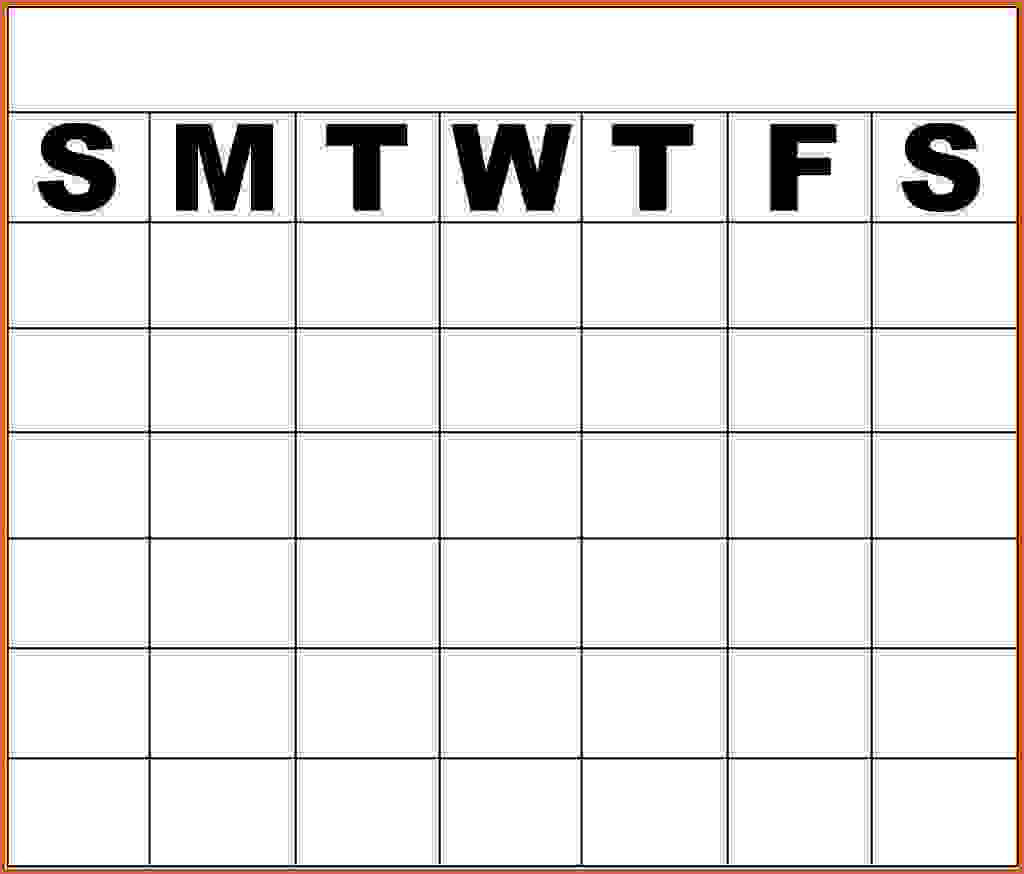 Printable Monday Through Friday Calendar 11 Monday Through Friday pertaining to Template Monday Through Friday Calendar