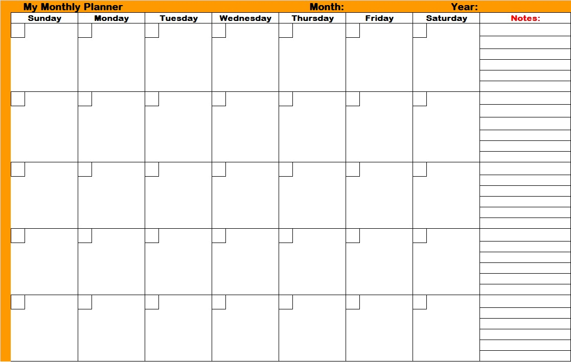 Printable Monthly Schedules | Shop Fresh throughout Printable Blank Schedules Monthly