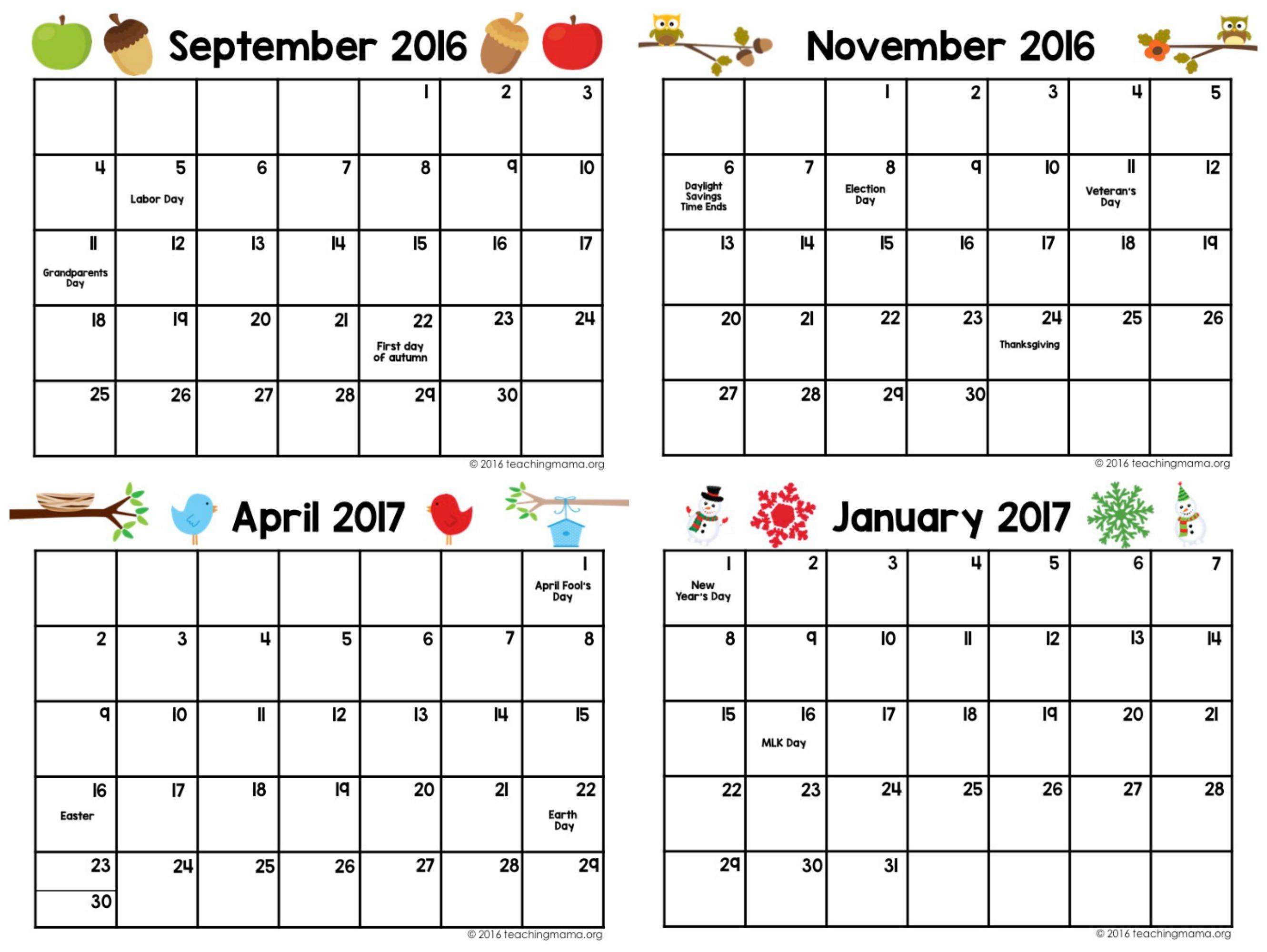 Printable Preschool Planner - On Sale Now! - Teaching Mama regarding Monthly Planner Template For Children