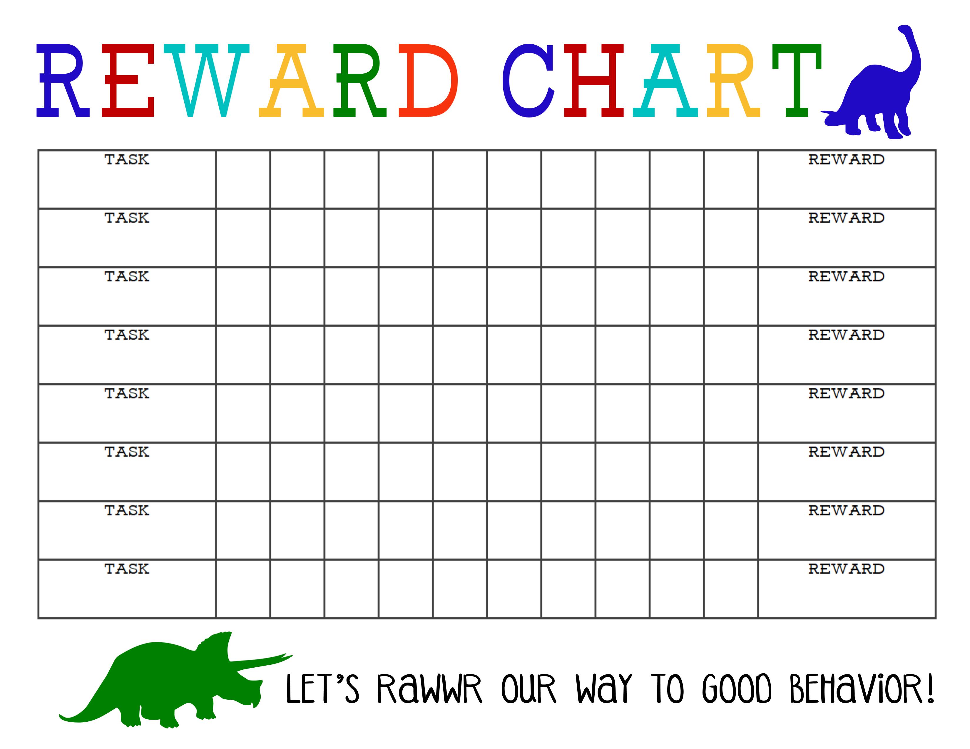 Printable Reward Chart | Chore Chart | Printable Reward Charts for Free Printable Blank Behavior Charts
