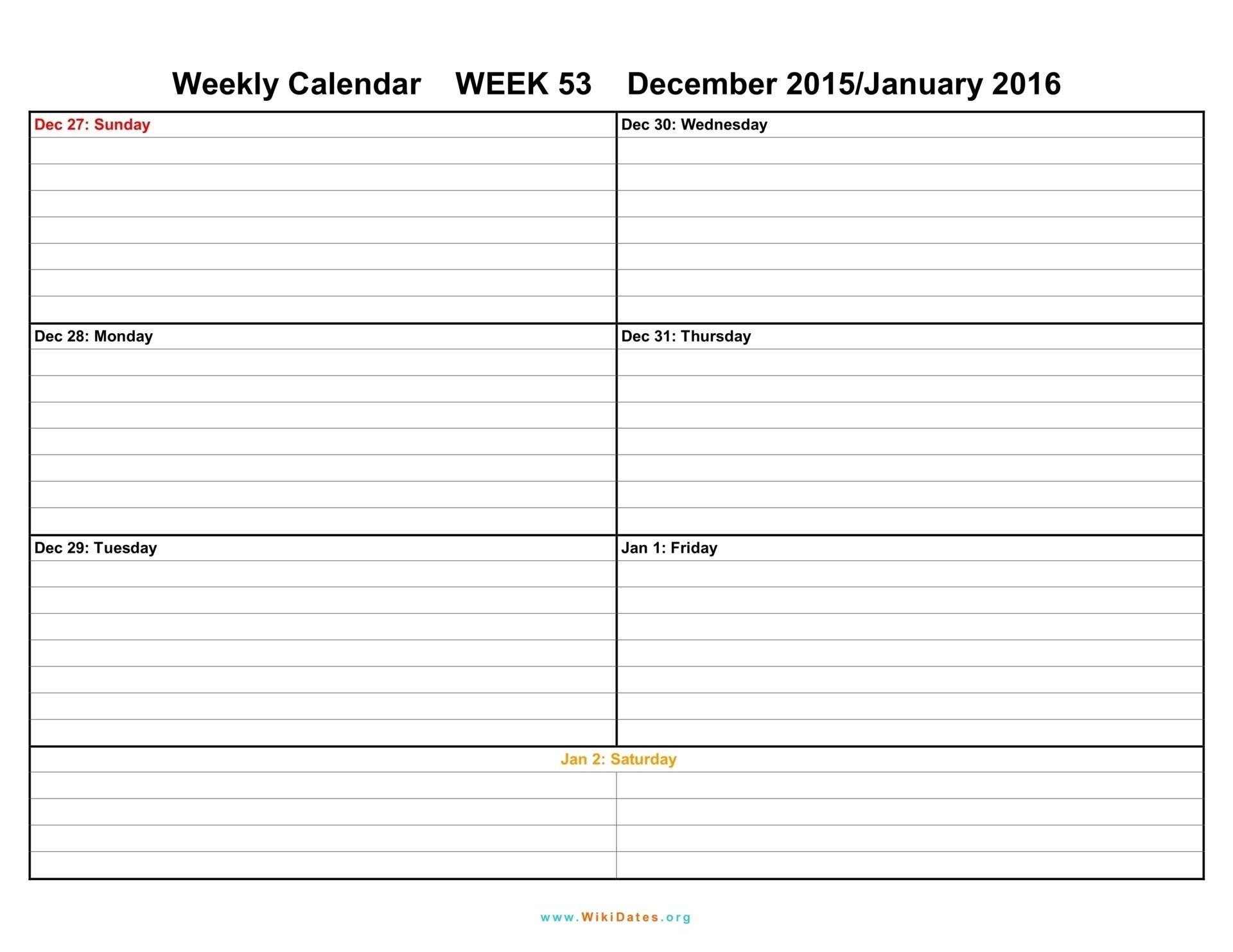 Printable Weekly Calendar Two Week Template Weeks Blank December for Blank Printable Weekly Calendar