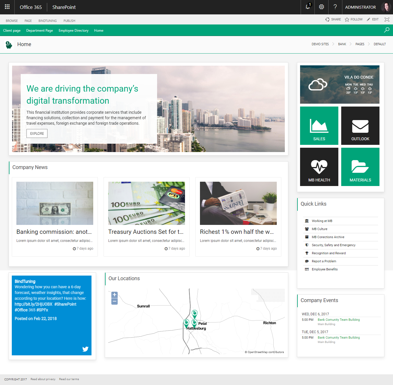Provisioning | Bindtuning in Calendar Templates In Office 365