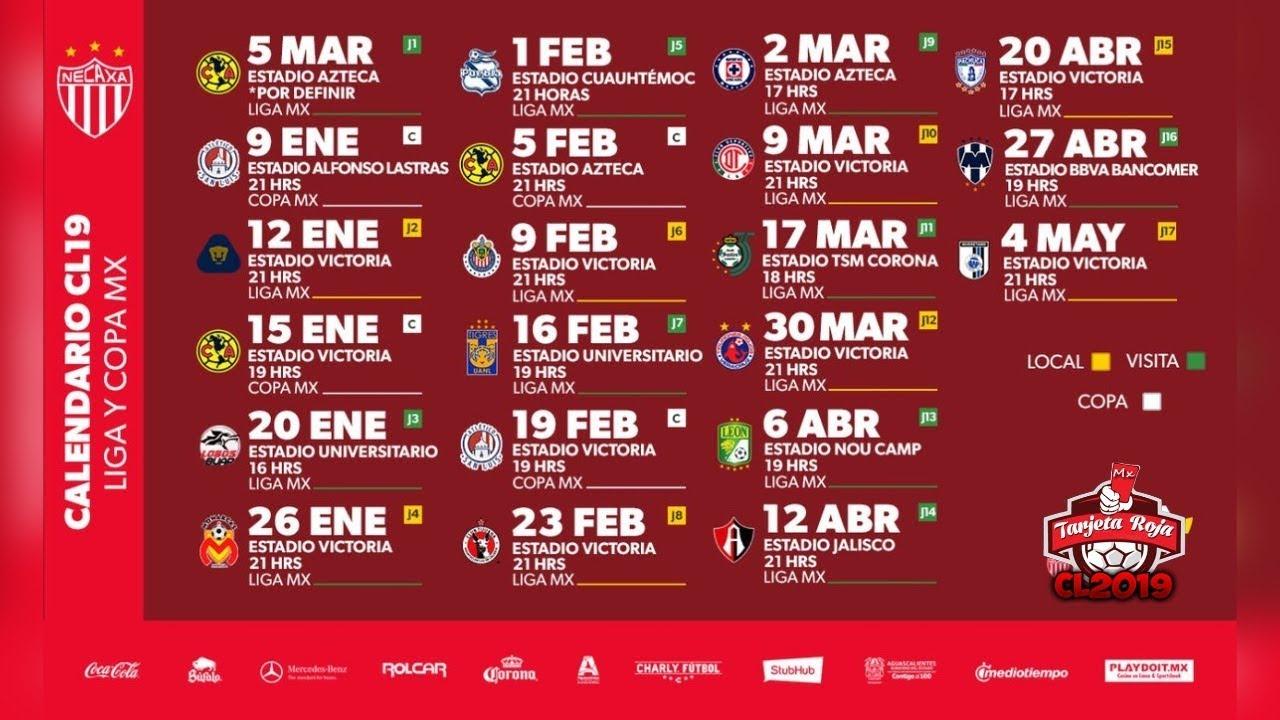 Rayos Del Necaxa Calendario Oficial | Clausura 2019 | Liga Mx pertaining to Calendario Liga Mx 2019 2020