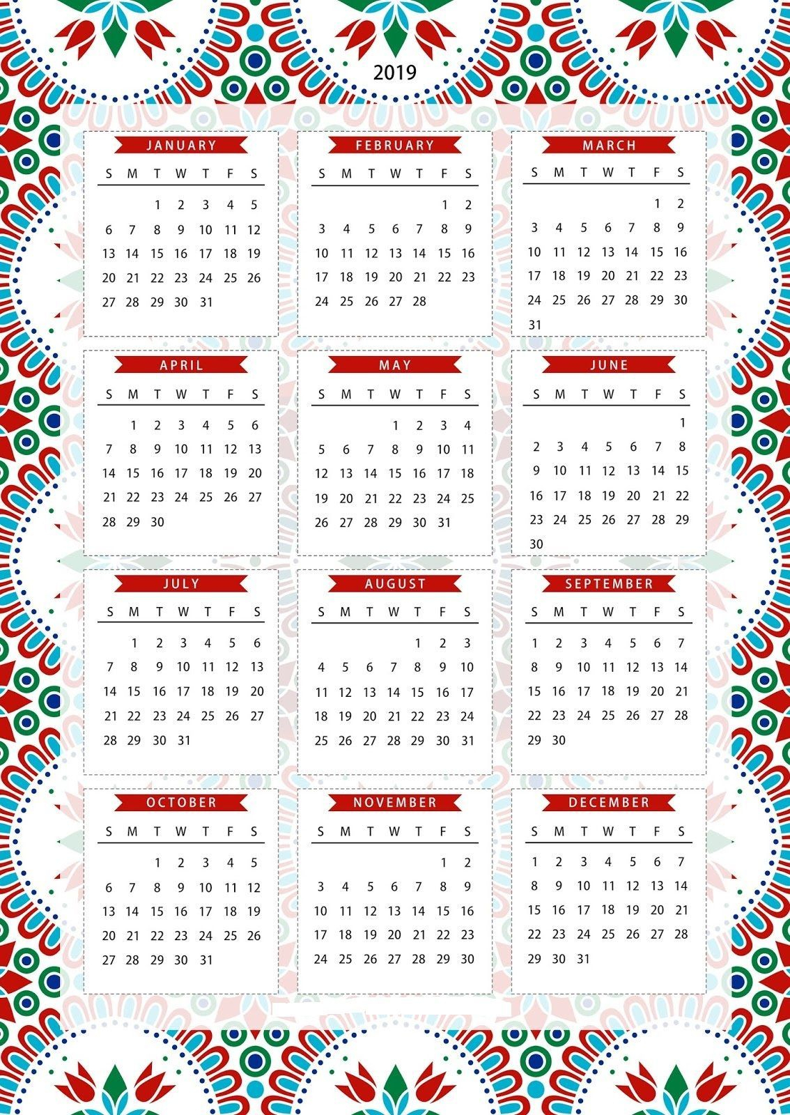 Rilakkuma Calendar 2019 Printable | Create Calendar Online 2019 - 2020 within Free Printable Unicorn Calendar 2019-2020